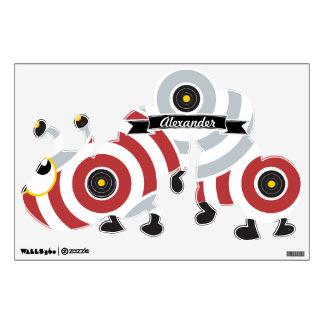 Caterpillar amarillo gris rojo personalizado