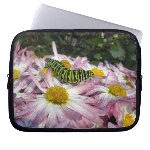 Caterpillar and Asters Laptop Sleeve