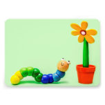 Caterpillar and Flower Funny Toys Invitation Card