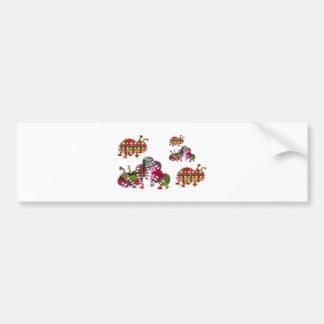 Caterpillar and Ladybug Lady Bug Graphic Bumper Sticker