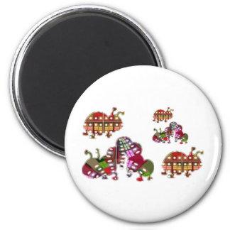 Caterpillar and Ladybug Lady Bug Graphic Magnet