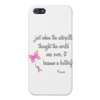 Caterpillar Became a Butterfly Cover For iPhone 5