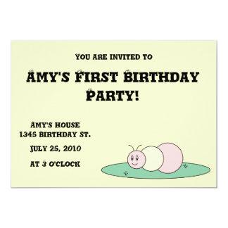 Caterpillar Birthday Invitation