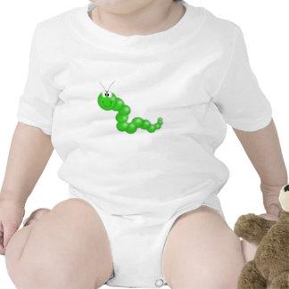 Caterpillar borroso verde trajes de bebé
