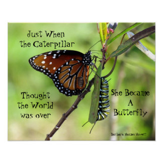 Caterpillar / Butterfly Quote Poster