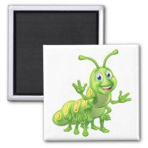 Caterpillar Cartoon Character Magnet