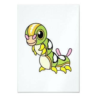 "Caterpillar colorido feliz lindo invitación 3.5"" x 5"""