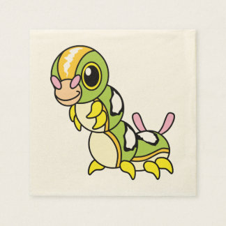 Caterpillar colorido feliz lindo servilletas de papel