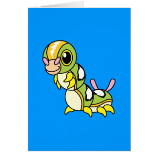 Caterpillar colorido feliz lindo tarjeta de felicitación