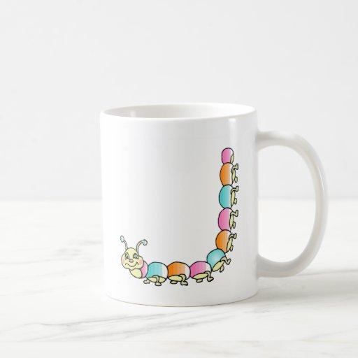 Caterpillar Crawling on a Mug