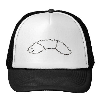 Caterpillar - cute fun woolly bear drawing art trucker hat