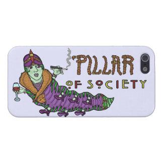 Caterpillar del art déco animal del retruécano de iPhone 5 carcasa