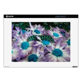 Caterpillar Fantasy Purple N Turquoise Laptop Skin