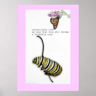 Caterpillar Haiku poster