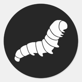 Caterpillar imprime pegatina redonda