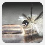 Caterpillar lindo colcomanias cuadradas personalizadas