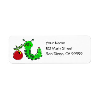 Caterpillar mascó Apple Etiquetas De Remite