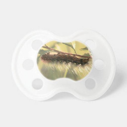 Caterpillar melenudo chupete de bebé