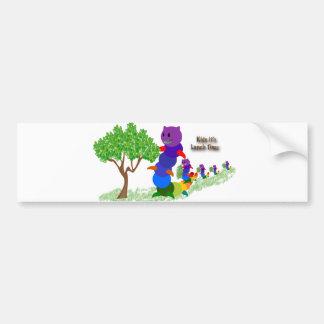 Caterpillar MOM Kids it's-Lunch Time Greeting Card Bumper Sticker
