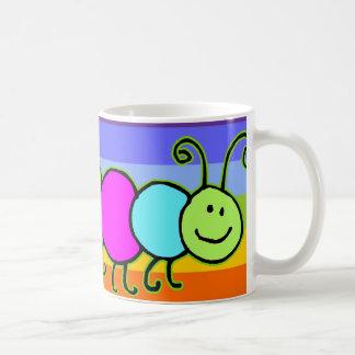 Caterpillar Netty   stripes chakren color Coffee Mugs