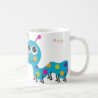 Caterpillar Notecard on Hot Pink Background Coffee Mug