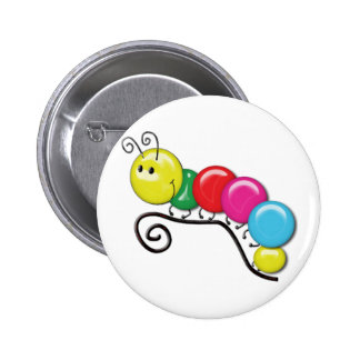 Caterpillar on a Twig Pinback Buttons