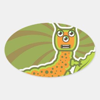 Caterpillar Oval Sticker