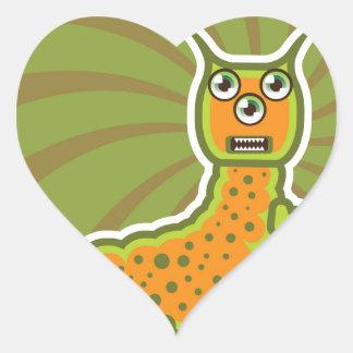 Caterpillar Pegatina En Forma De Corazón