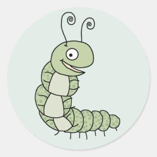 Caterpillar Pegatina Redonda