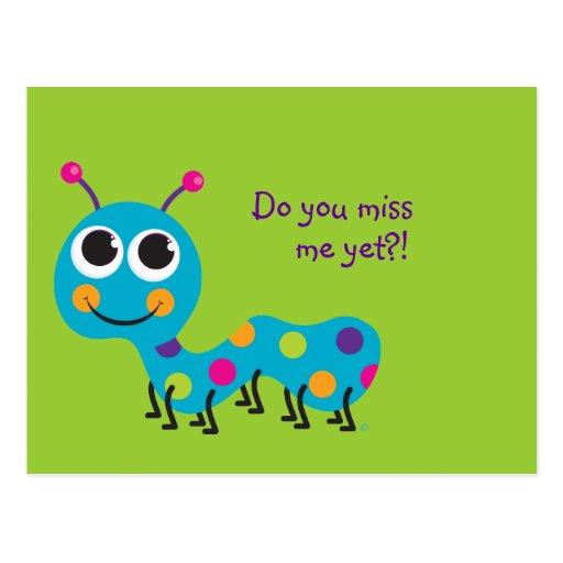 Caterpillar Post Card