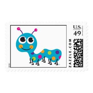 Caterpillar Postcard Stamp