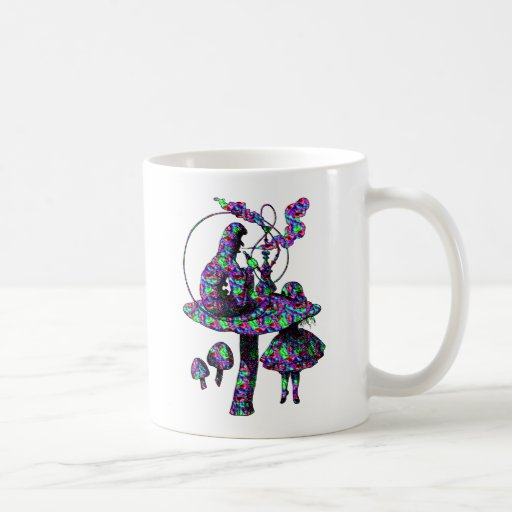 Caterpillar Psychadelic Coffee Mugs