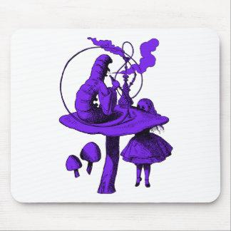 Caterpillar Purple Fill Mouse Pad