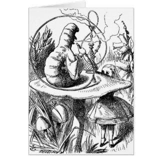 Caterpillar Smoking a Hookah Alice in Wonderland Greeting Card