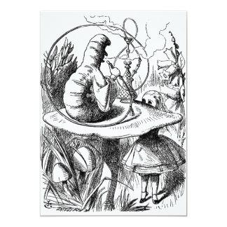 Caterpillar Smoking a Hookah Alice in Wonderland 5x7 Paper Invitation Card