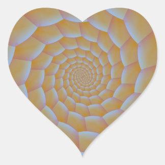 Caterpillar Spiral Heart Sticker