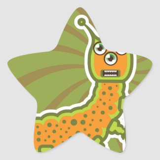 Caterpillar Star Sticker