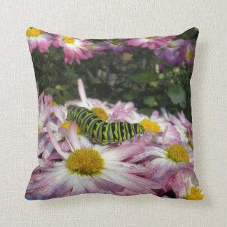 Caterpillar Stroll American Mojo Throw Pillow