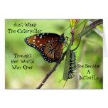 Caterpillar/tarjeta de felicitación de la cita de