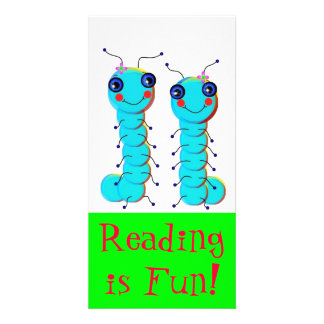Caterpillar Twins Designed Book Mark Photo Greeting Card