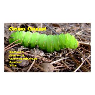 Caterpillar verde tarjetas de visita