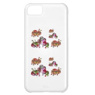 Caterpillar y señora Bug Graphic de la mariquita Funda Para iPhone 5C