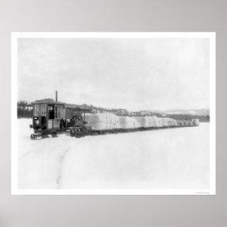 Caterpillar Yukon Freight 1924 Poster