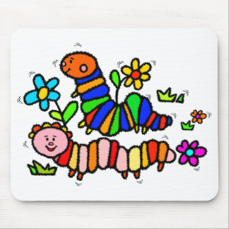 Caterpillars with Flowers Mousepad