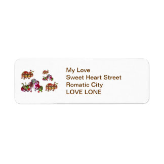 Caterpiller and Ladybug Lady Bug Graphic Label