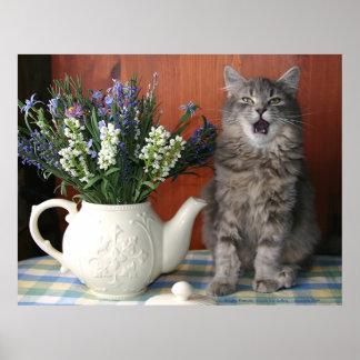"""""""Caterwaul"""", el gato del canto Posters"""