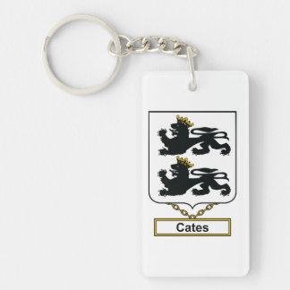 Cates Family Crest Rectangular Acrylic Keychains