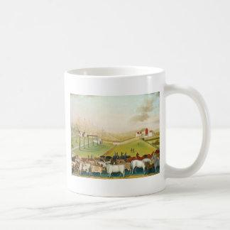 Catetos de Edward - la granja de Cornell Tazas De Café