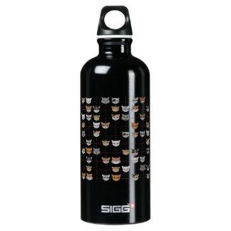 catface aluminum water bottle