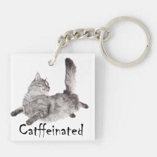 Catffeinated Keyring Acrylic Keychains